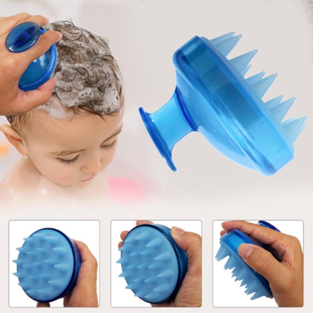 1Pc Salon Hair Brush Silicone Spa Shampoo Brush Shower Bath Comb Hairbrush Props Soft Styling Tool cepillo pelo