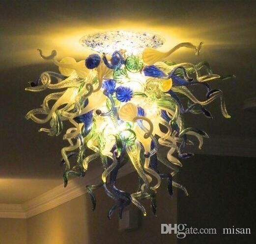현대 LED 광원 램프 크리스탈 fathion 날아가 유리 샹들리에 이탈리아 스타일 천장 샹들리에 조명
