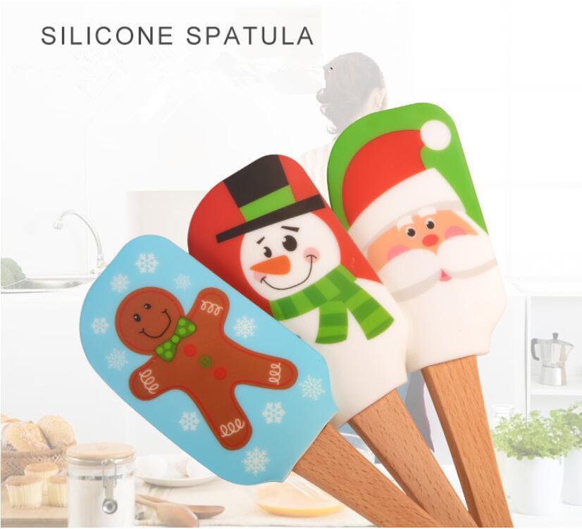 عيد الميلاد سيليكون أداة البسط كريم زبدة كعكة أداة البسط خلط أدوات الخليط مكشطة فرشاة زبدة خلاط الكيك فرش الخبز مطبخ TXY 002
