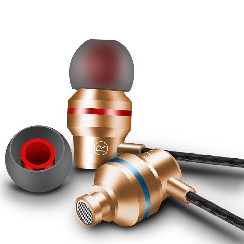 3,5 мм металлический ввод в ухе проводных наушников Bass 4D стерео универсальная гарнитура высокого качества Быстрая бесплатная доставка