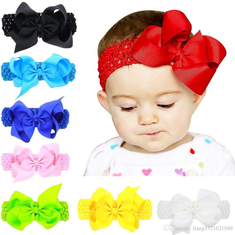 16 Farben Europa und Amerika heißen Verkauf Kinder-Stirnband-Kopfschmuck Bogen mittelbreit Haarband