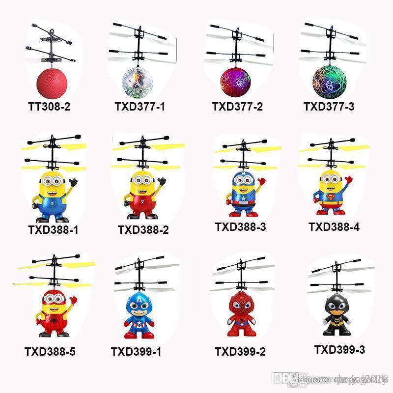 13 моделей RC беспилотный летающий вертолет шар Самолеты вертолет светодиодный проблесковый маячок up игрушки индукционные электрические игрушки Дети Дети рождественские датчик