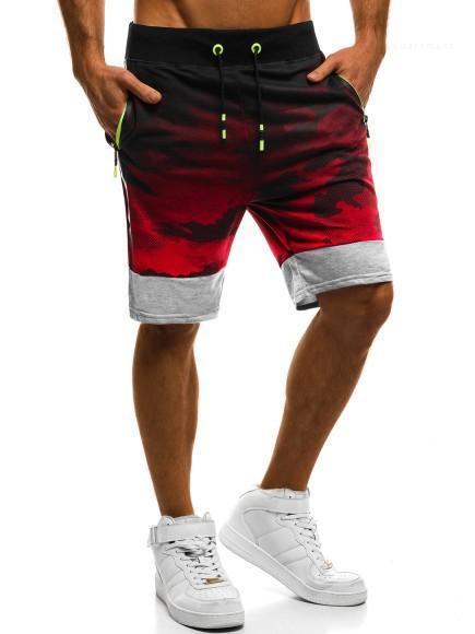 Pantaloni di scarsità di moda rivestite Relaxed allentato vestiti ginocchio lunghezza corsa con coulisse casual designer di abbigliamento Camouflage Sport