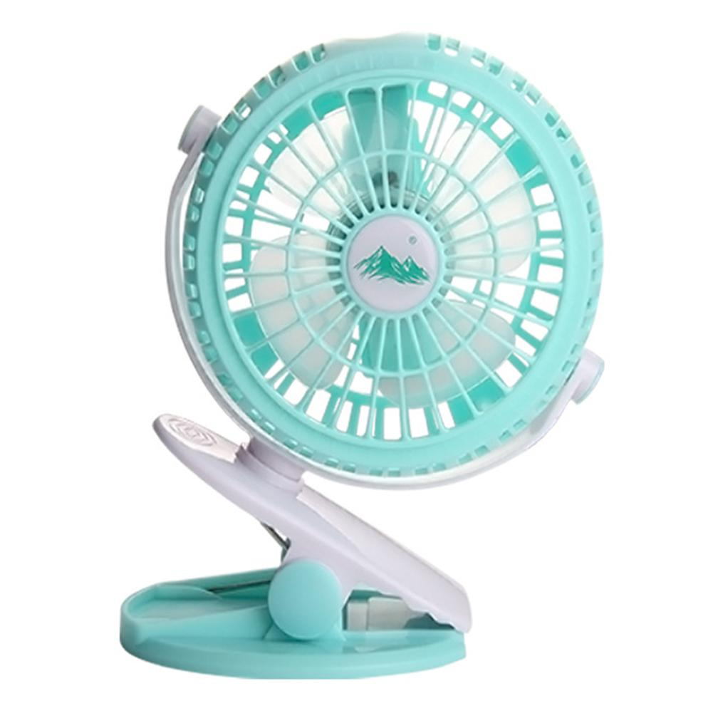360 Degree Stepless Adjustable Portable USB Rechargeable Battery Mini Fan Oscillating Clip On Desk Baby Stroller #4