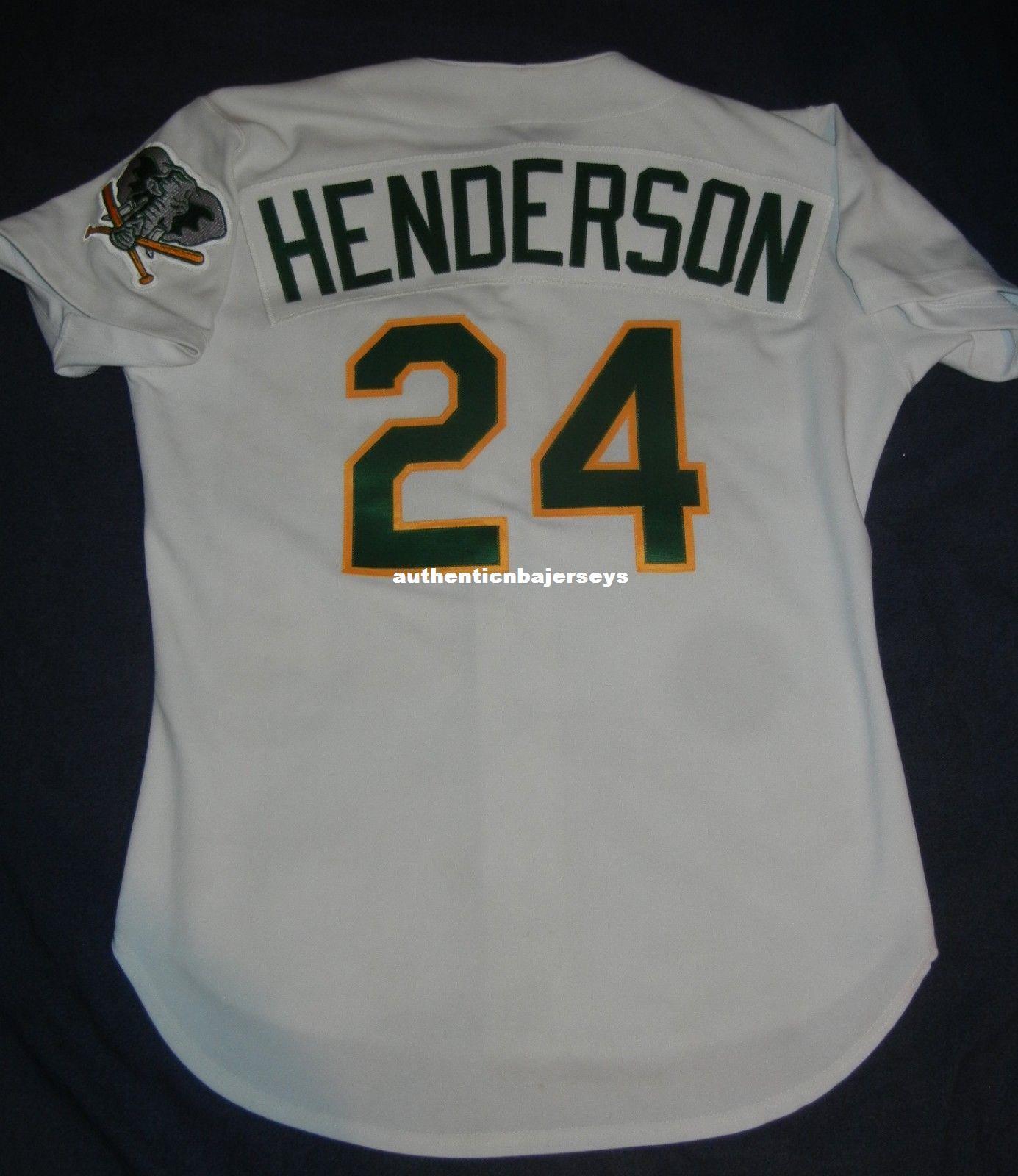 Дешевые ретро #24 Рики Хендерсон топ Рассел Окленд Джерси мужские сшитые бейсбольные майки