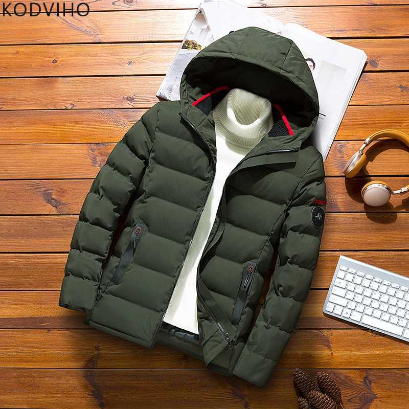 Mens Jackets Winter Parka Puffer Coat Plus Size Men Warm Puffy Jacket Casual Wear Padded Outwear Army Green Quilted 6XL 7XL 8XL
