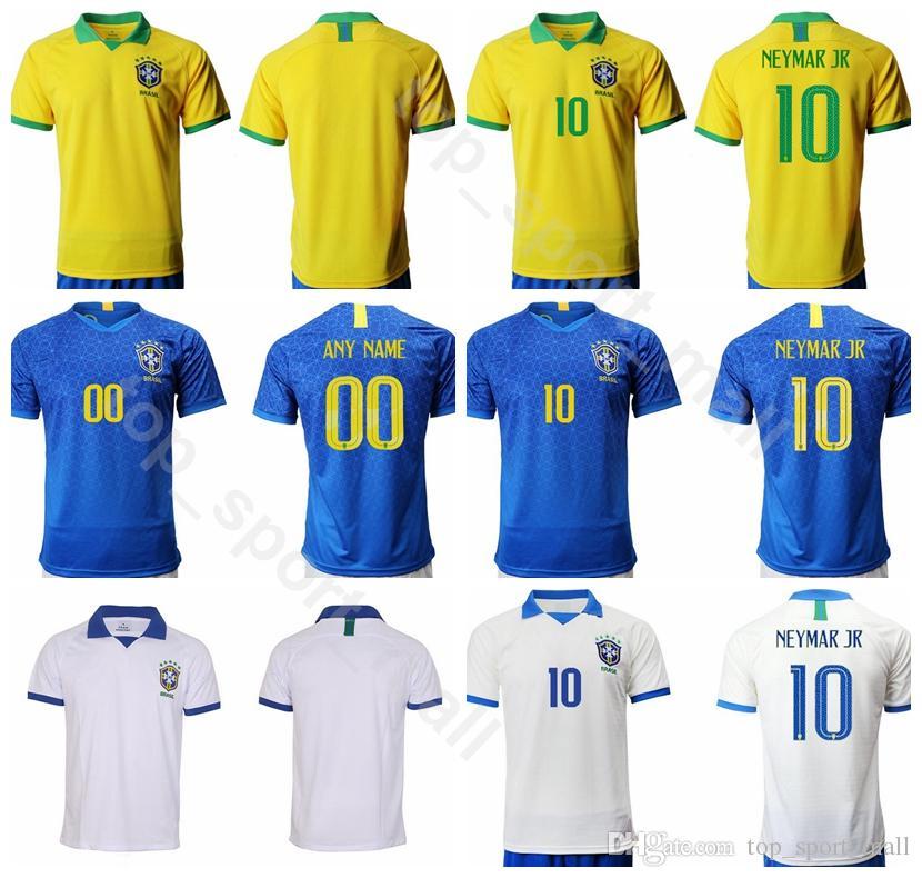 19 20 남자 축구 브라질 10 NEYMAR JR 저지 브라질 9 JESUS 11 COUTINHO 12 MARCELO 2 SILVA 축구 셔츠 키트 유니폼
