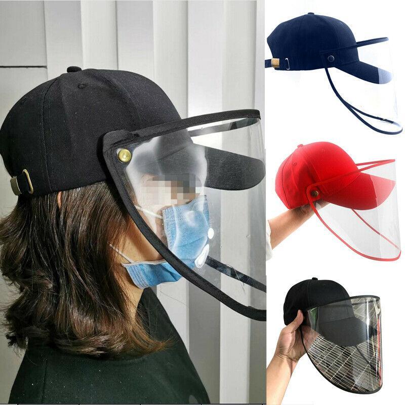 Práctica anti-saliva de protección sombrero de béisbol de plástico al aire libre frontal del bloque Sombrero