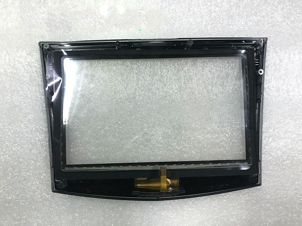 Express gratuite 100% Original nouvelle utilisation de l'écran tactile usine OEM pour voiture Cadillac DVD GPS écran LCD de navigation écran tactile Cadillac digitaliseur