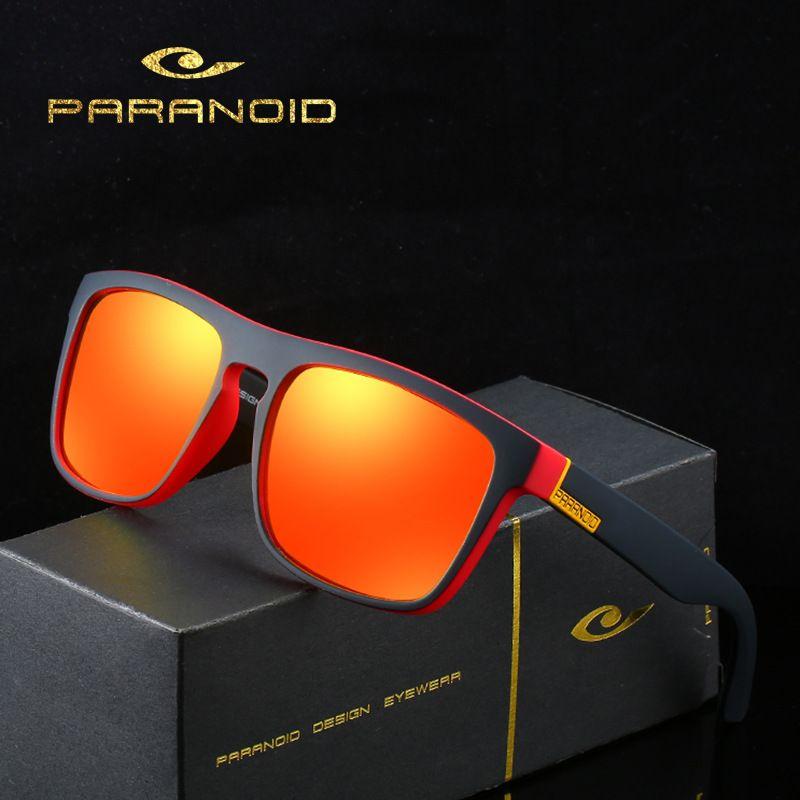 Paranoid 8731 Radsports polarisieren Sonnenbrille mit großem Rahmen im Freien windundurchlässigen Sonnenbrillen Herrenbrillen
