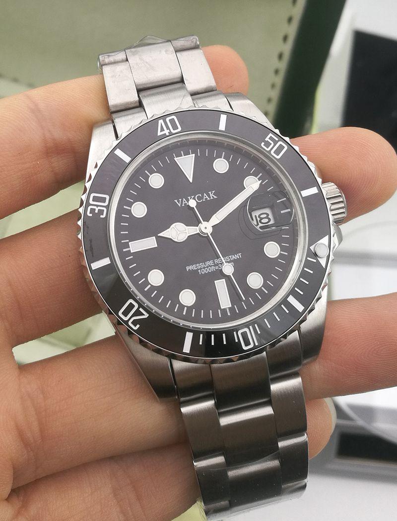 Vakcak 로고 패션 세라믹 베젤 럭셔리 새로운 망 기계식 SS 2813 자동 운동 시계 스포츠 남자 디자이너 시계 손목 시계