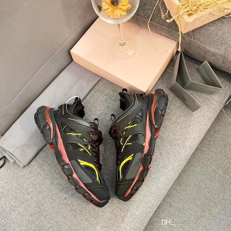 Üçlü S Parça 3.0 Tess S Sneaker Yeni Renkler MEN Kadınlar Günlük Ayakkabılar Beyaz Turuncu Parça 3.0 Ayakkabı Düşük En Dantel-up Açık Chaussures VV1