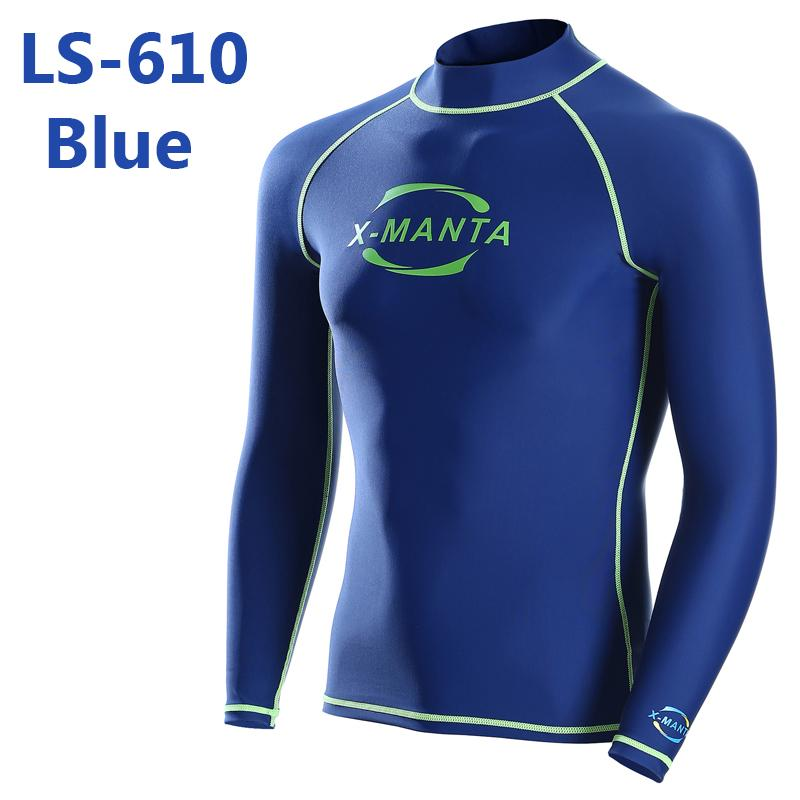 Free shiping Long Sleeve Lycra UPF 50+ For Men Body Suits Snorkeling Diving Jacket Skin Anti-UV Wear Surfing Sports Clothes