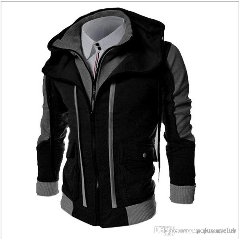 Para hombre otoño invierno y el diseñador de moda para hombre con capucha falsificación dos Deporte hoodies flojos sudaderas casual adolescentes Ropa