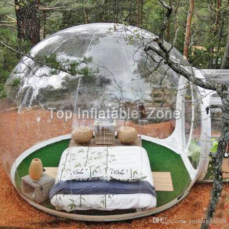 الشحن مجانا! مضخة مجانا! واضح قابل للنفخ قبة خيمة نفخ فقاعة خيمة شفافة نفخ خيمة للتخييم في الهواء الطلق