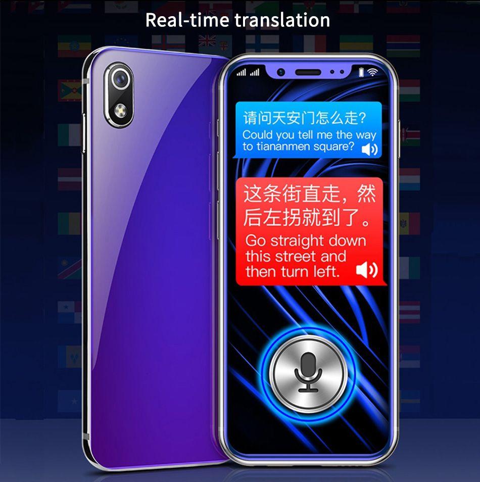 DHL 3.5 inch Anica I9 smartphone sbloccato 2+16GB Luxury Metal Frame Telefone mobile phone Face ID WiFi Whatsapp Playstore 4G LTE Smartphone