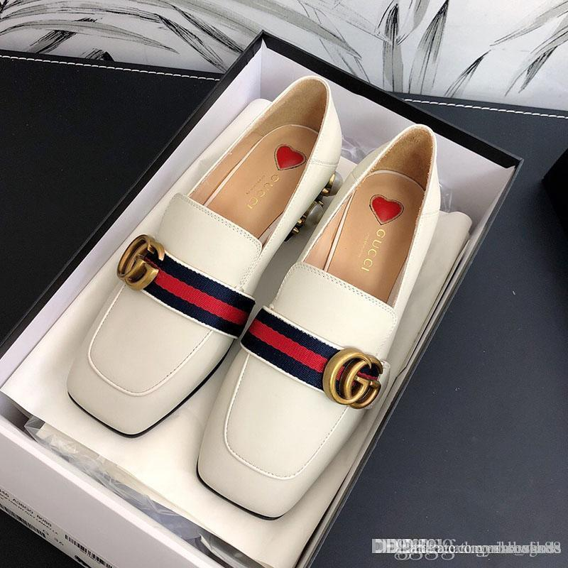 Fashion luxury women shoes with High quality women casual shoes classic Pearl and luxury women's shoes SIZE 35-40