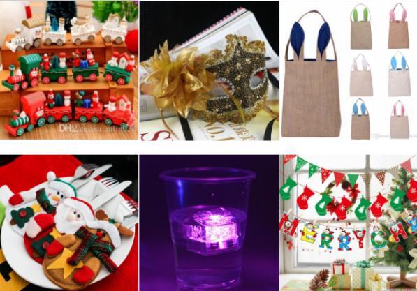 万圣节、圣诞装饰、面具、购物袋