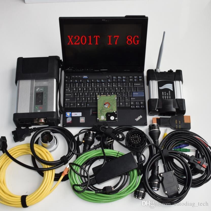 Super 2IN1 mb star c5 for b-mw icom wifi next a b c new generation of icom a2 latest soft-ware hdd 1tb with laptop x201t win7