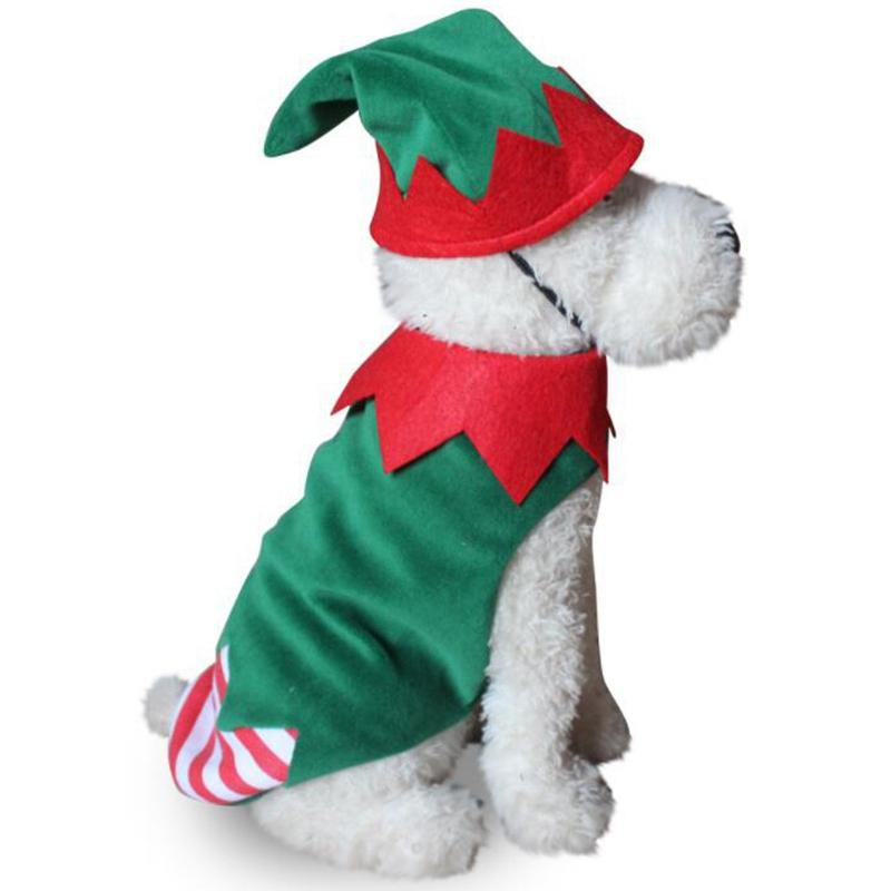 Vêtements pour animaux doux de Noël Costume Vêtements mignons de bande dessinée pour petit chien en tissu Costume Robe de Noël vêtements pour chiens Kitty