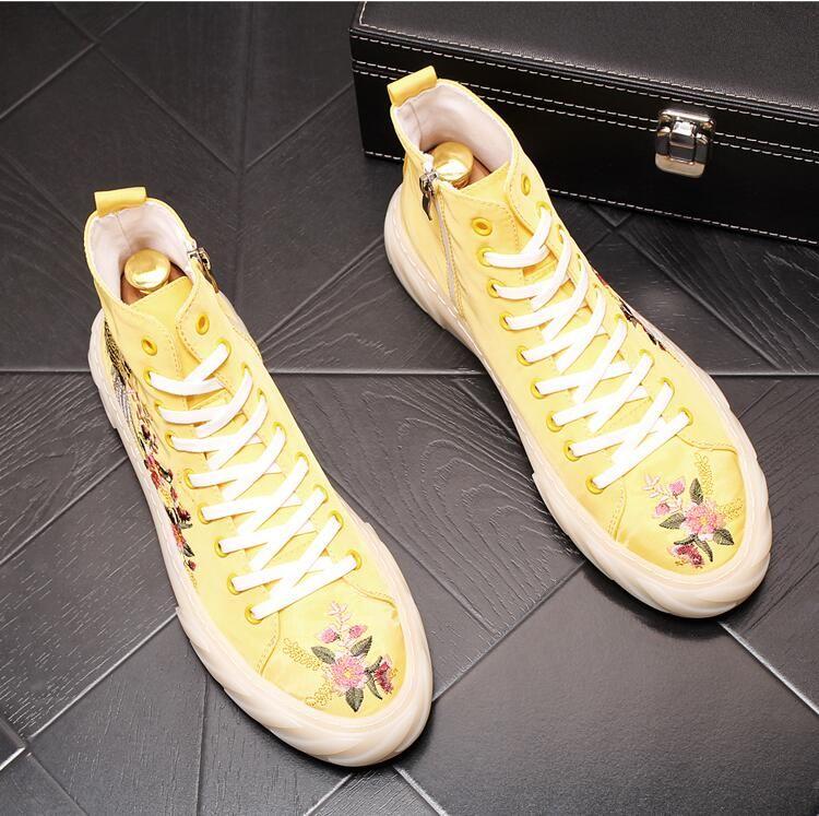 Stile britannico Autunno Designer High Top Uomo Scarpe casual Sneakers di alta qualità Moda Uomo Scarpe da uomo antiscivolo comode all'aperto J73