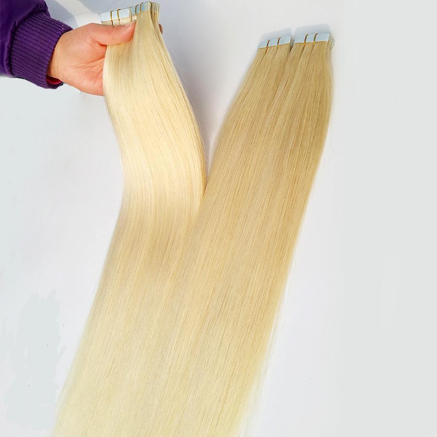 الشريط غير مرئية ريمي شعر إمتداد الشريط في الشعر إهاب الانحياز منتجات الشعر 100G 40Piece 12 إلى 20color ليحاول 28inch