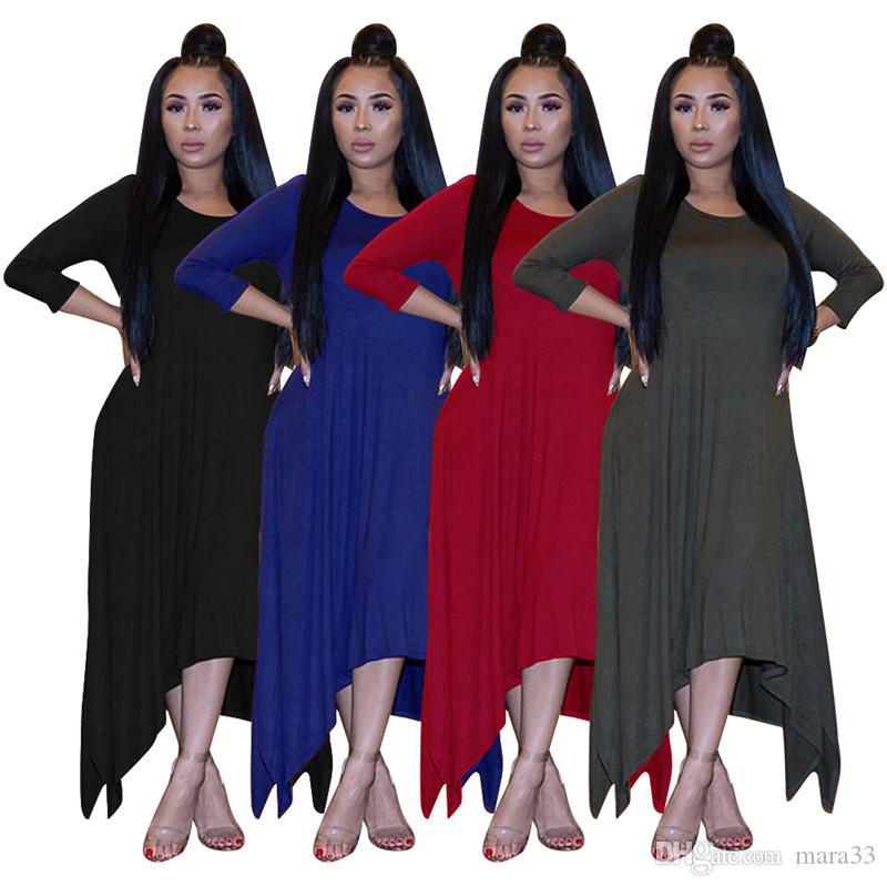 Las mujeres MIDI vestidos casuales elegantes vestidos atractivos lápiz del club del vestido de partido de ropa de fiesta de invierno caída suelta faldas largas nueva llegada 1535