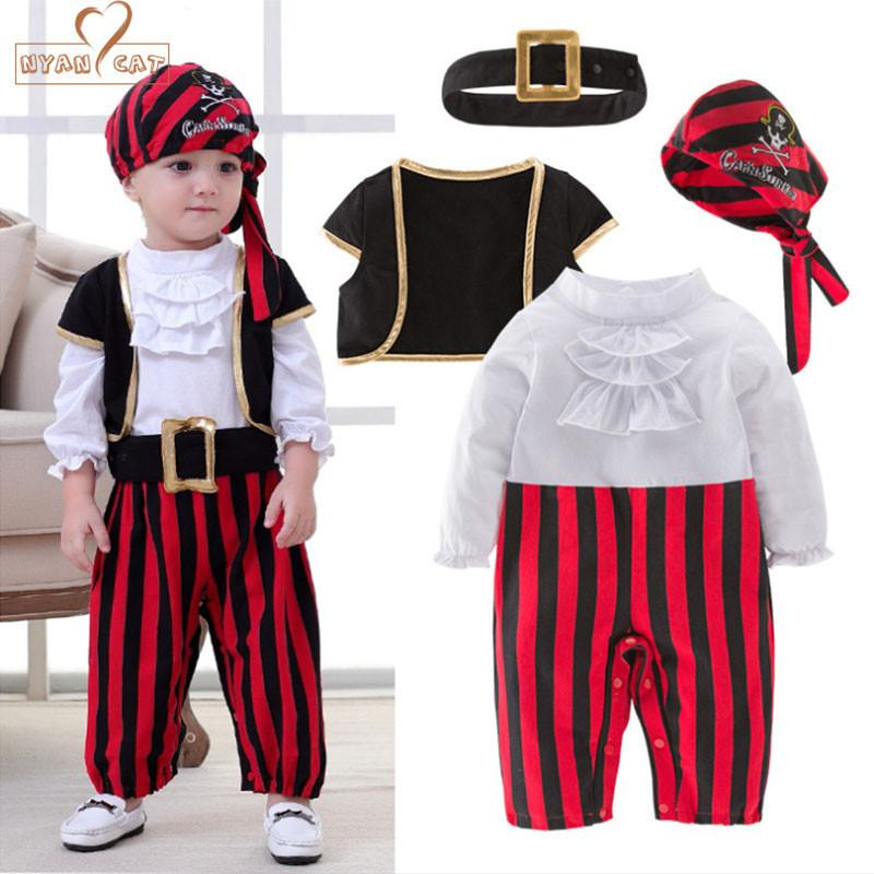 Nyan Cat Halloween Cosplay Children's Pirate Costume Dance Set Children Boys Clothes Baby's Sets Christmas Gift J190524