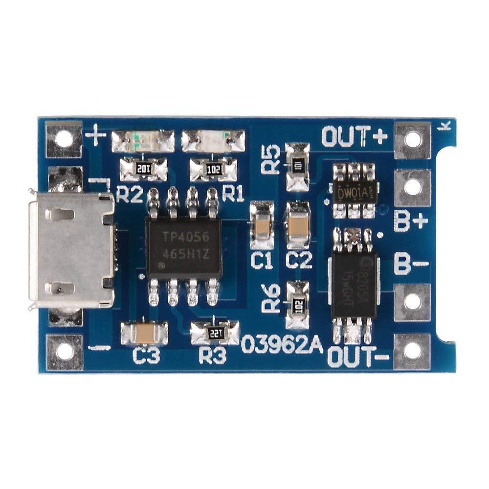 10pcs Micro USB 5V 1A 18650 batería de litio TP4056 módulo de carga del cargador de la Junta con la protección del doble función 1A Li-ion