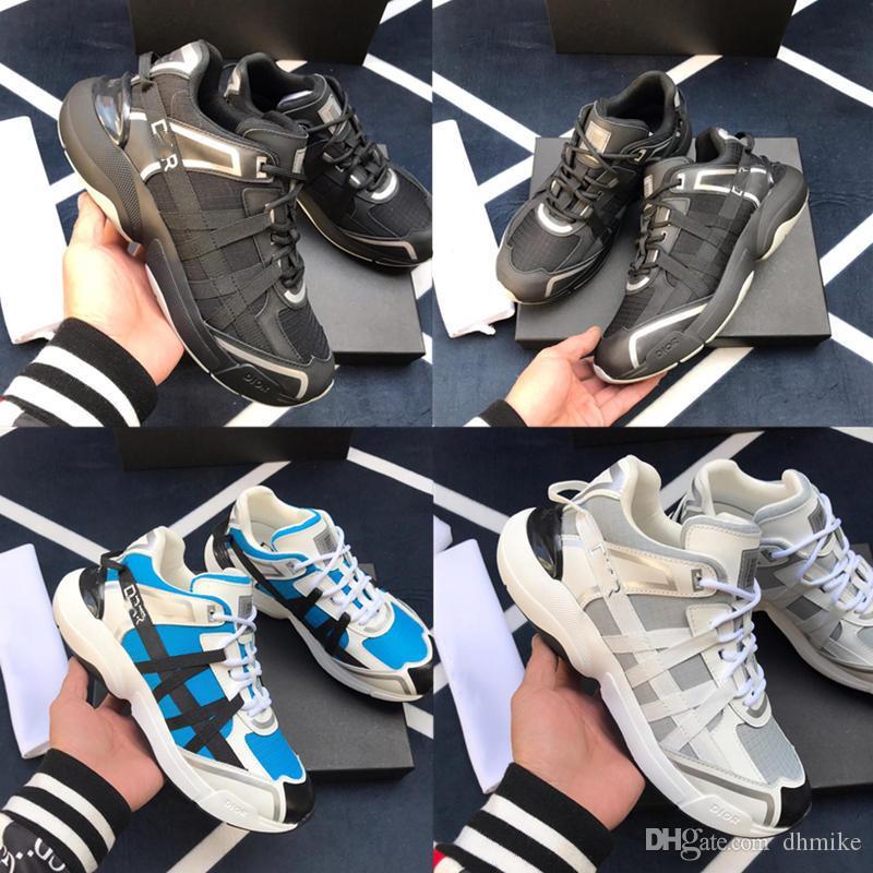 Nouvelle arrivée des hommes de chaussures de sport de luxe pour hommes Top qualité mode chaussures de luxe en cuir de vache semelle intérieure Sports de plein air Le modèle size38 ~ 45