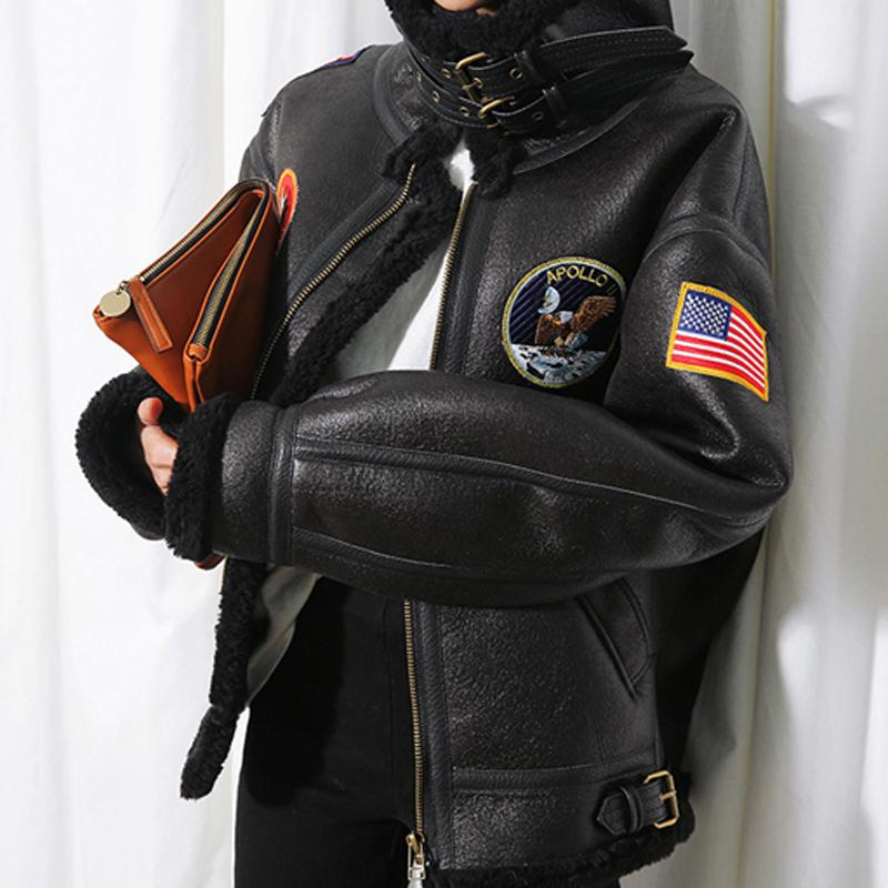 Avrupa ve Amerikan Tarzı Otomotiv Tasarımcı Kış Kürk Palto Kadınlar Sıcak Deri paltolar Kahverengi Siyah Renk Artı boyutu W004 T191128