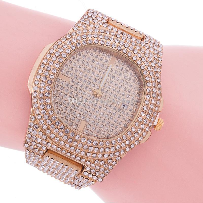 2020 Uhr Uhren Armbanduhren Frauen Elegante Diamanten Stahluhr Dame Uhren Quarz Casual New Band Edelstahl Handgelenkstunden Mode WA EROH