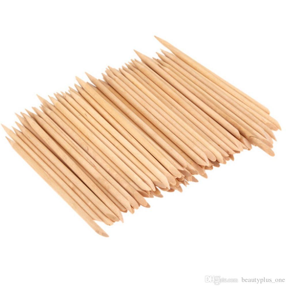 100 قطع مسمار فن تصميم البرتقال الخشب عصا العصي إهاب تاجر مخدرات مزيل مانيكير باديكير العناية