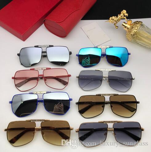 Óculos polarizados para homens Driving designer de Sun óculos de armação de Proteção UV400 Praça metal com caso