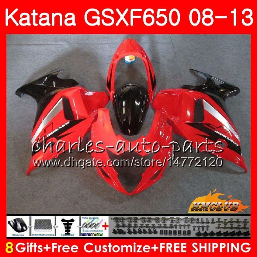 Kit For SUZUKI KATANA GSXF 650 GSX650F 08 09 10 11 12 13 14 18HC.13 GSXF-650 GSXF650 light red 2008 2009 2010 2011 2012 2013 2014 Fairing