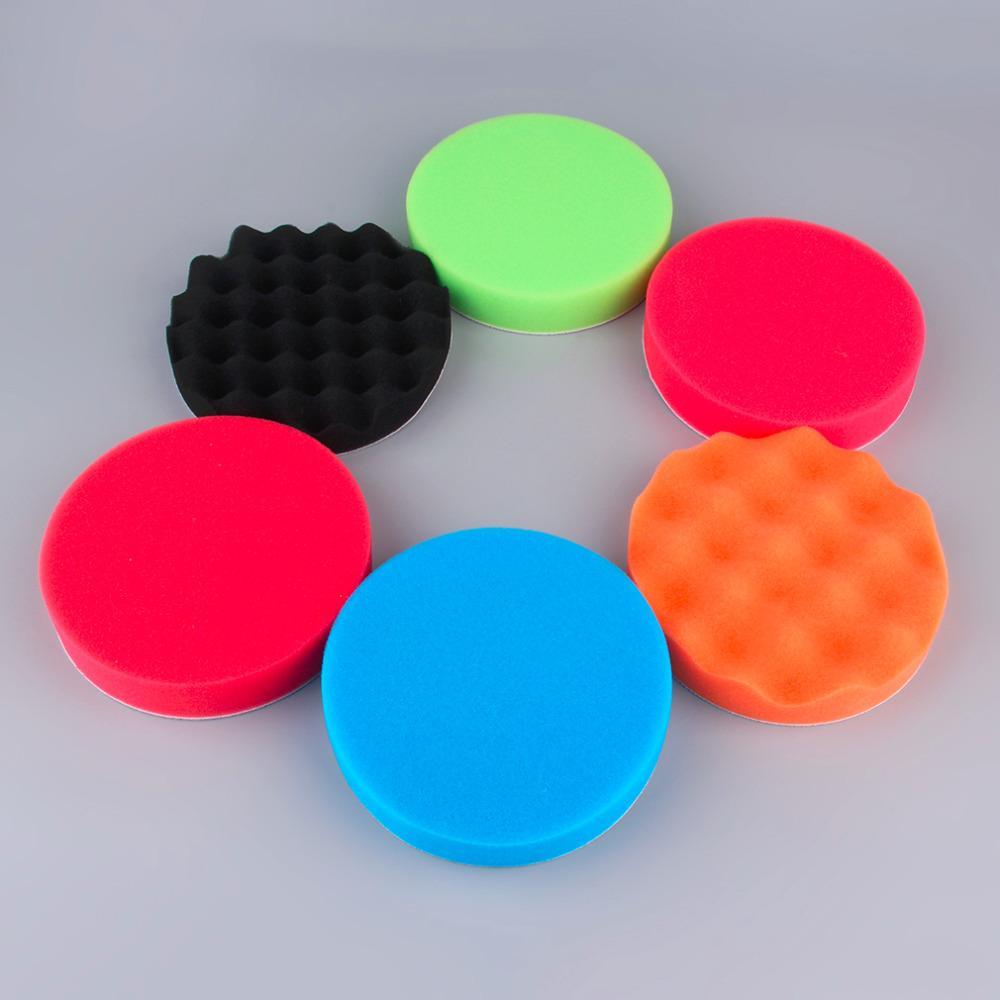 6Pcs auto lucidatore set spugna per lucidare Buffer Pad Foam Pad lucidatura pad Vendita Car Kit di lucidatura Spugna Wheel Kit Hot