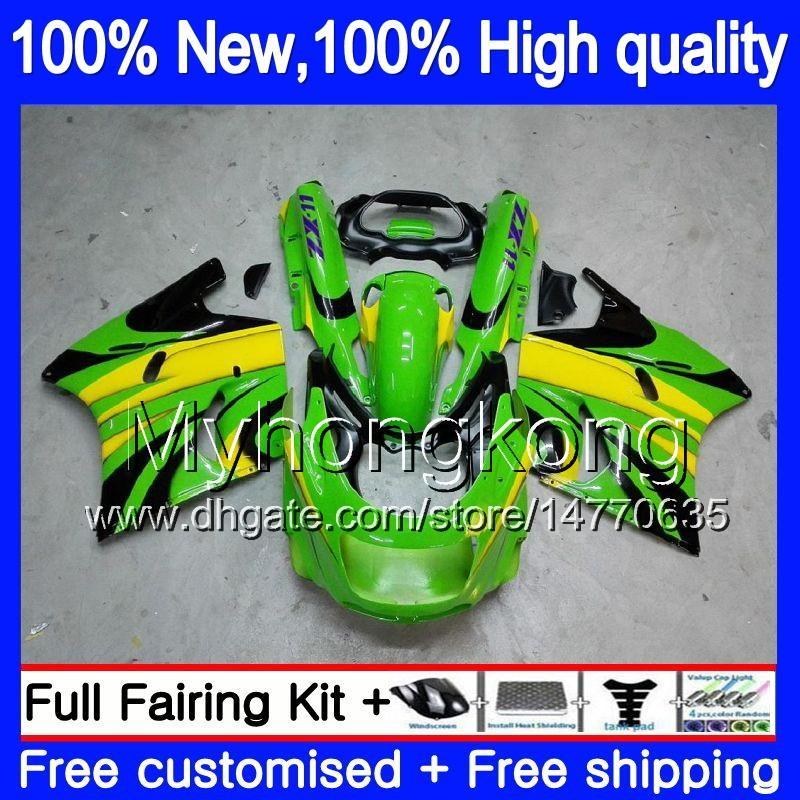 ZZR1100 가와사키 ZX11 ZZR 1,100 1,993 1,994 1,995 1,996 1,997 208MY.16 ZZR1100 ZX 11R ZX11R ZX11R 93 01 93 94 95 96 97 페어링 녹색 검은