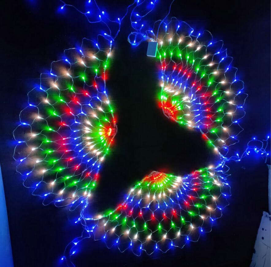 110 / 220V الطاووس حفل زفاف للتغيير LED ضوء سلسلة عيد الميلاد عيد الميلاد حزب زينة الستار خلفية الجنية الضوء
