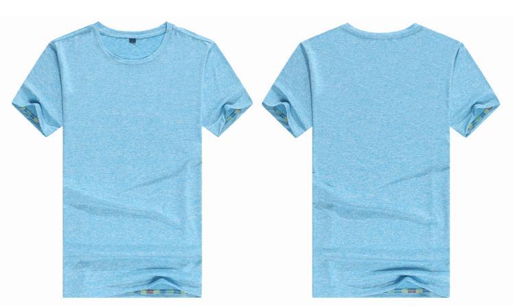 19ss Dazzle Renk Buz Ipek Kısa Kollu Yuvarlak Yaka T-shirt Serin Pürüzsüz Rahat Yumuşak Erkek Tasarımcı T Shirt Saf Renk