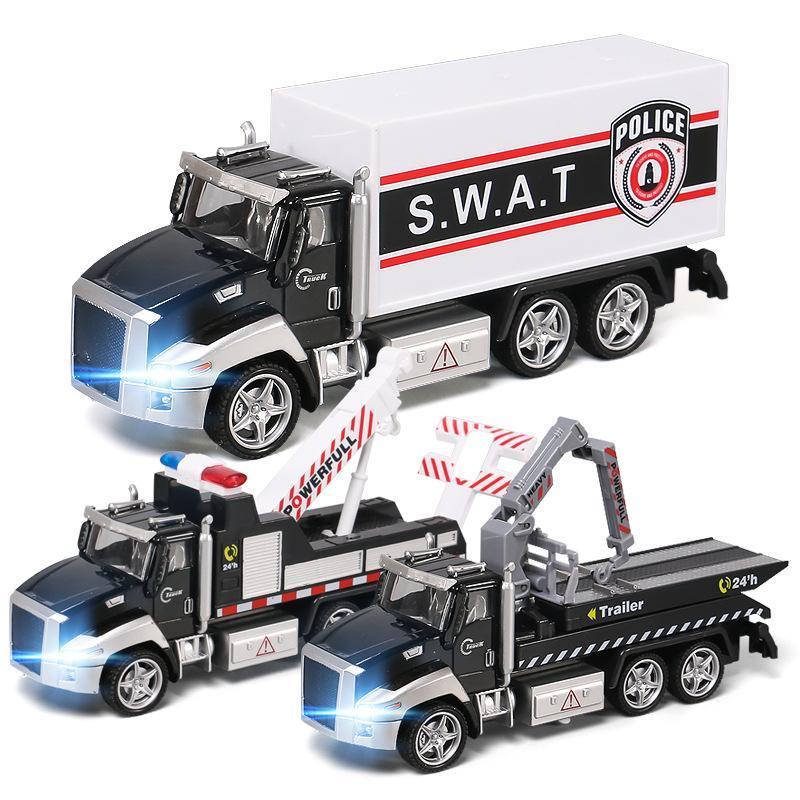 소장 합금 모델 선물 도로 서비스 구조 견인차 크레인 트럭 다이 캐스트 장난감 모델 장식