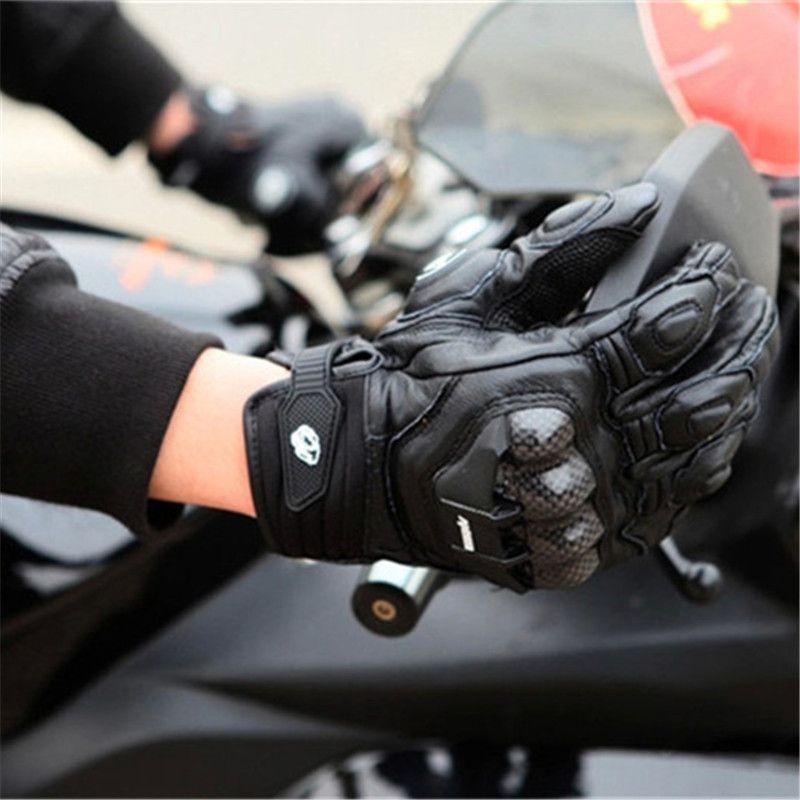 Furygan  Gloves Motorcycle Leather Gloves Carbon Fiber Racing Riding Anti-Slip