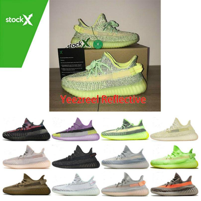 Großhandel Kanye West V2 Männer Desinger Laufschuhe Damen Sneaker Zebra-Schwarz-Bred Creme Weiß Sesame Best Sports Schuhe Sneakers 10