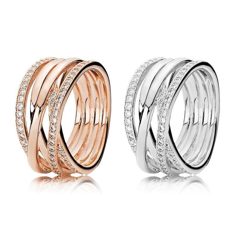 Echt 925 Sterling Silber Minimalistisch Kubik-Zirkon Ring Für Damen Fein Schmuck