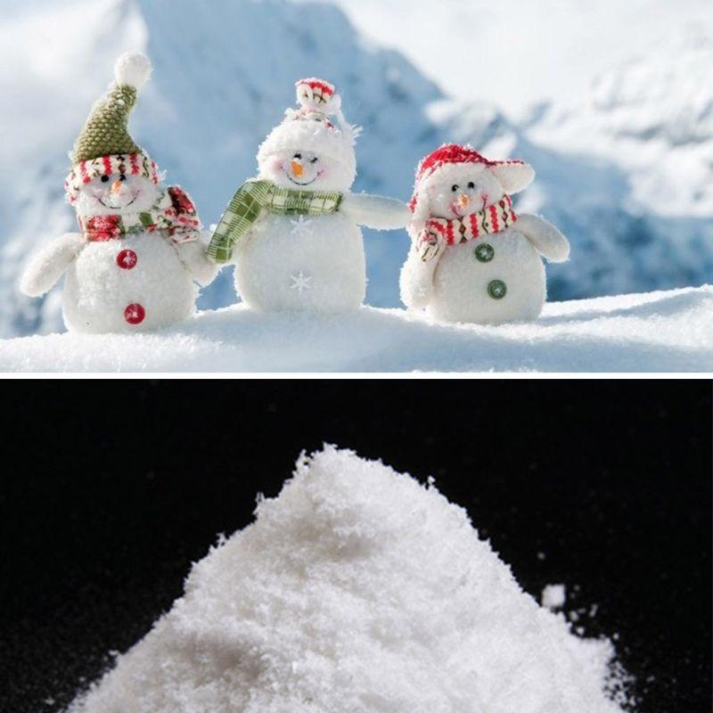لحظة سحر الثلج الاصطناعي مسحوق زفاف عيد الميلاد الديكور حزب 10-100g D08D
