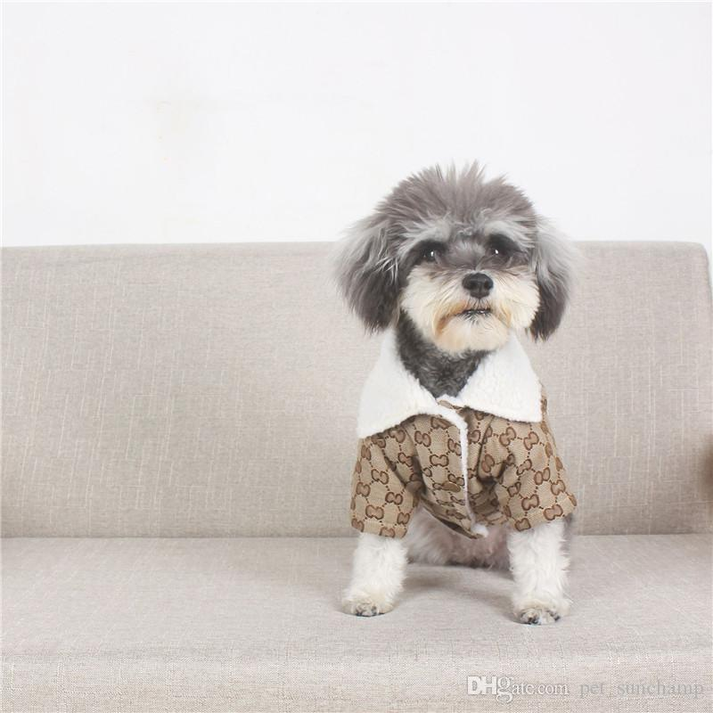 Spring Warm Pet Coats Classic Letter Printed Schnauzer Jackets Outdoor Thicken Pattern Pet Cat Dog Apparel