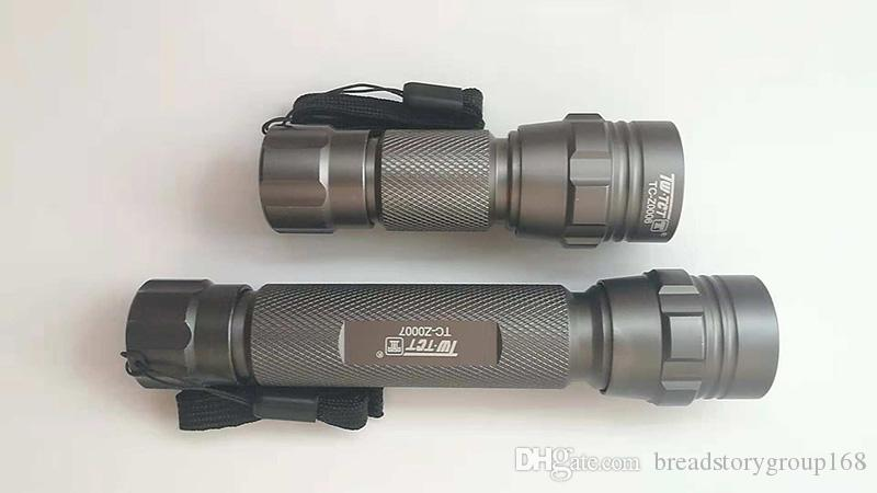 TCT LED Flashlights Torch Light Aluminum Alloy LED Torch Lights Single Cell Double Cell Waterproof Torch LED
