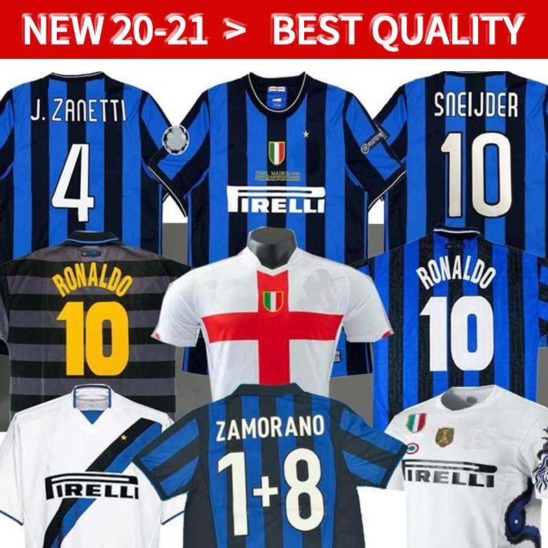 2020 Inter Milan Retro 2009 2010 Milito Sneijder Zanetti Retro Soccer Jersey Pizarro Football Milan 1997 1998 97 98 99 Djorkaeff Baggio Ronaldo From Huangkanghan 14 1 Dhgate Com