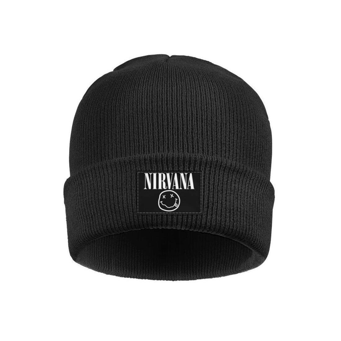 Moda Nirvana bant Logo beyaz Kış Sıcak Beanie Kafatası Şapka Kaflı Düz logosu sarı yılında Utero Motosiklet bağbozumu New MTV Unplugged