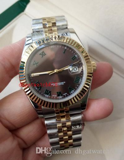 Luxusuhr Männer automatische 2813 Wimbledon Herren Grau Roman Dial 126333 Gold Steel 116333 Uhren Armbanduhren Datejust