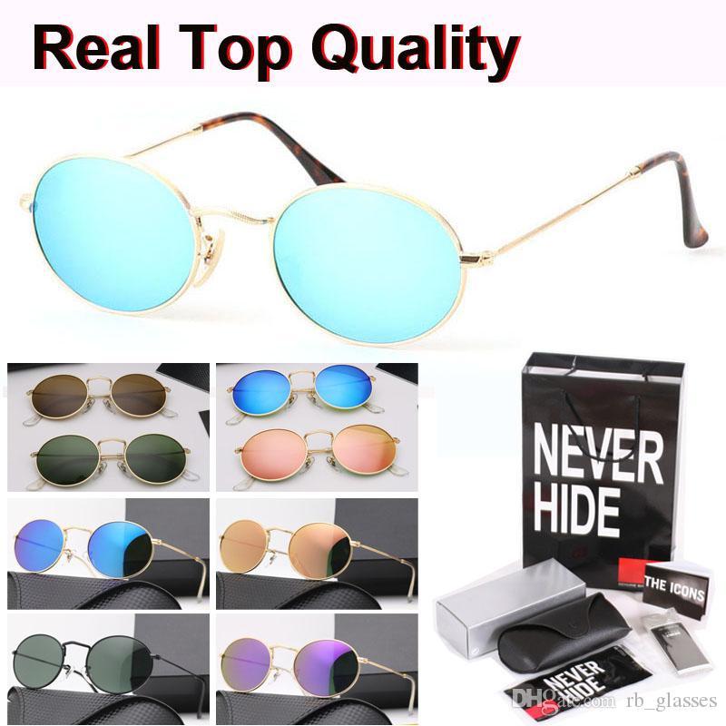 Brand Designer 3547 Retro Oval Sunglasses men women uv400 glass lens Eyewear Vintage sun Glasses with original box, accessories, everything!